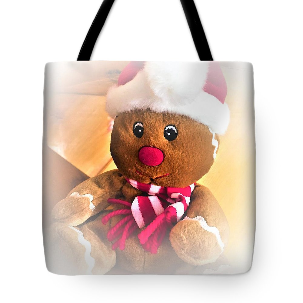 Gingerbread Man Tote Bag featuring the photograph Gingerbread Man by Cristina Stefan