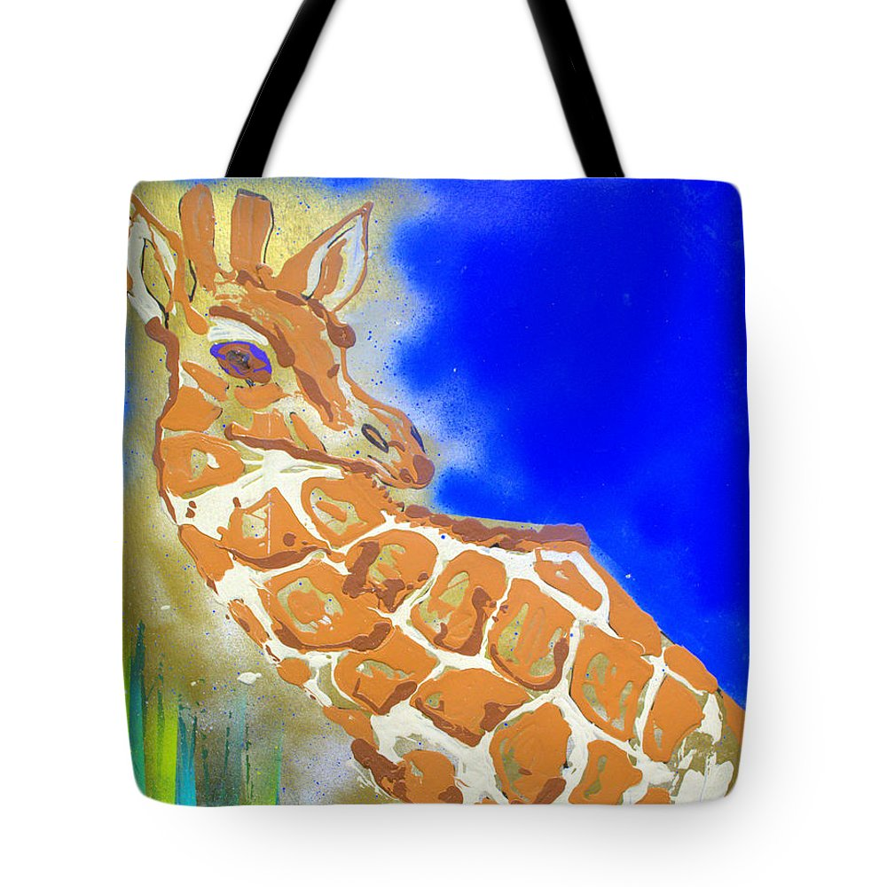Impressionist Painting Tote Bag featuring the painting Giraffe by J R Seymour