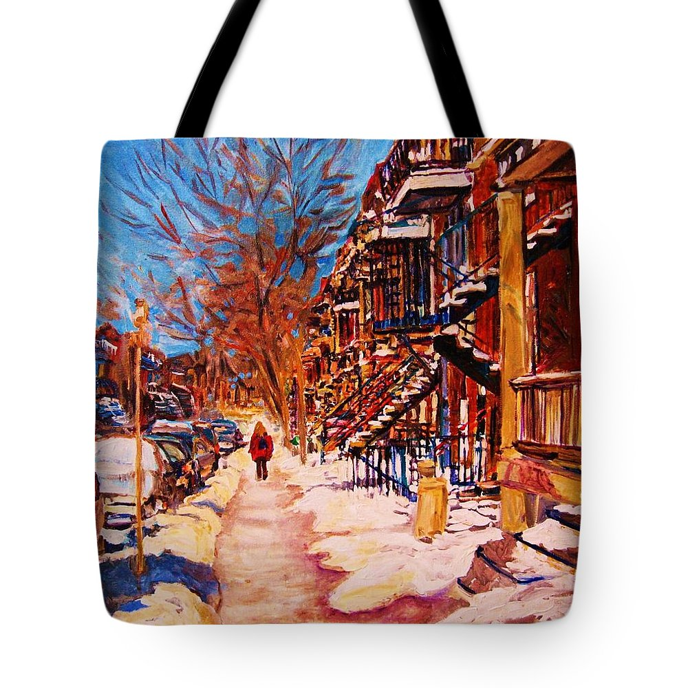 Children Tote Bag featuring the painting Girl In The Red Jacket by Carole Spandau