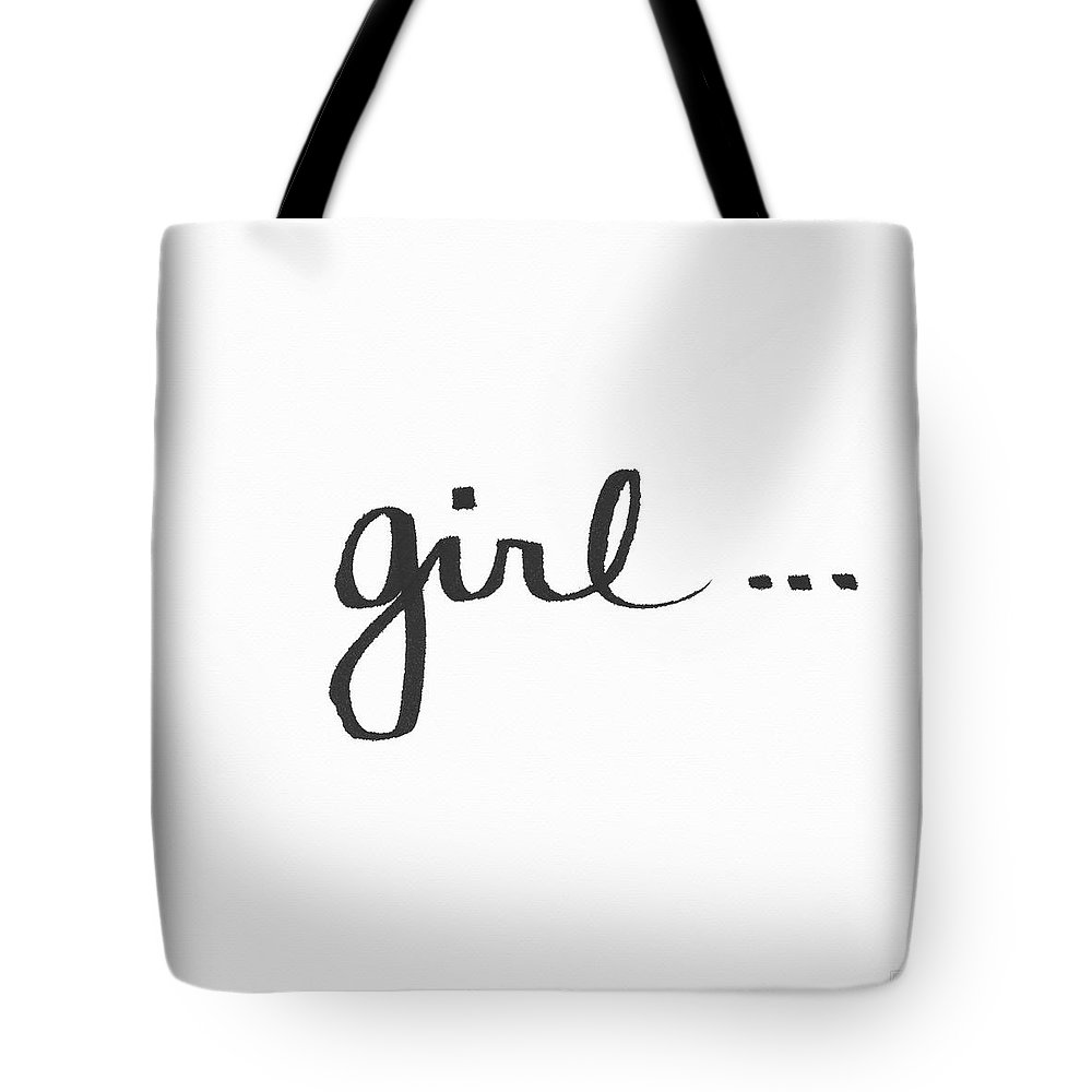 Little Black Dress Tote Bag featuring the painting Girl Talk- Art By Linda Woods by Linda Woods