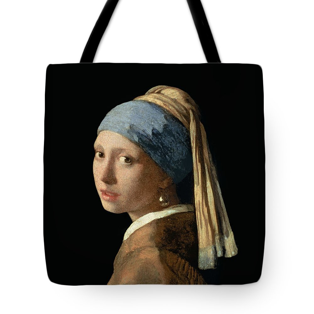 Jan Vermeer Tote Bag featuring the painting Girl with a Pearl Earring by Jan Vermeer