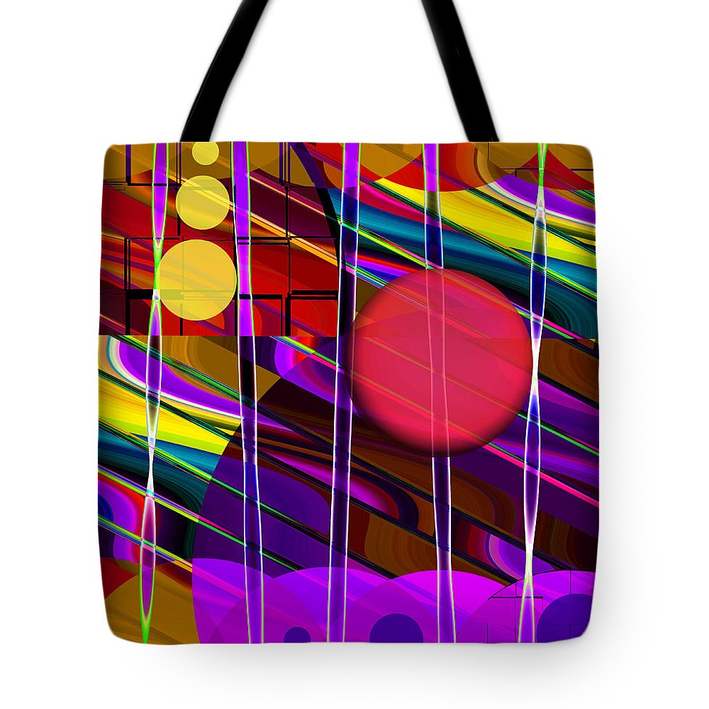 ruth Palmer Tote Bag featuring the digital art Girls Just Wanna Have Fun by Ruth Palmer