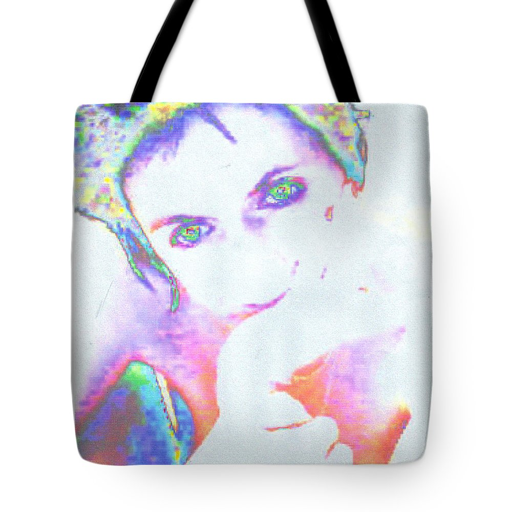 Portrate Of A French Girl Tote Bag featuring the photograph Gisele by Dawn Johansen