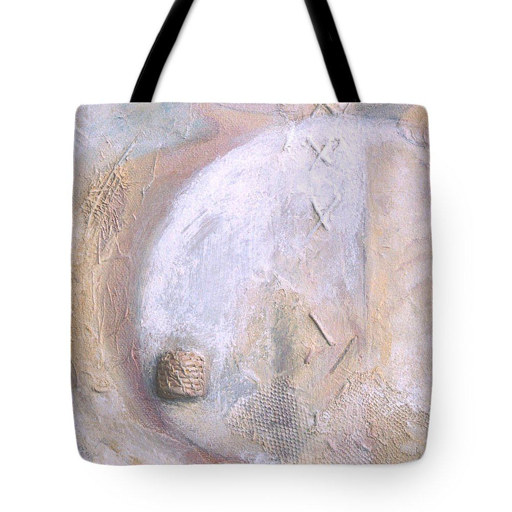 Collage Tote Bag featuring the painting Give And Receive by Kerryn Madsen-Pietsch