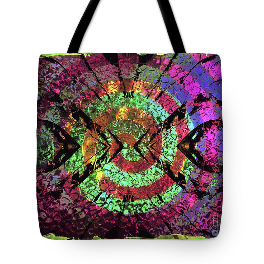 Spinning Tote Bag featuring the mixed media Give It A Whirl by Jolanta Anna Karolska