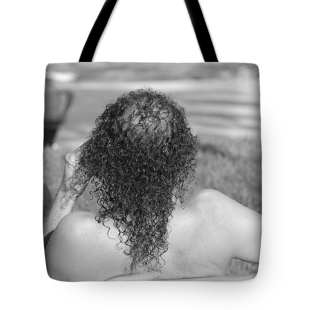 Black And White Tote Bag featuring the photograph Give It Up Dude by Rob Hans