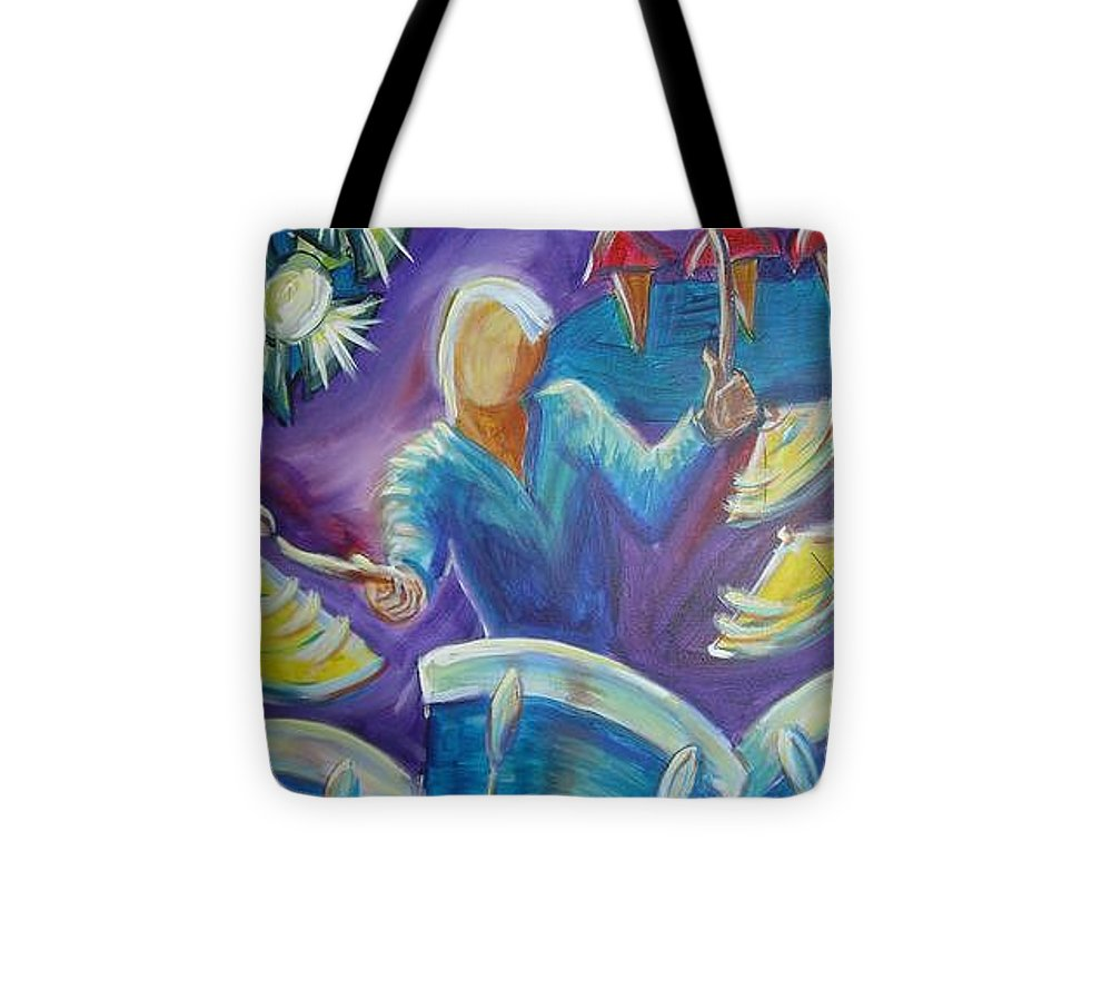 Jazz Tote Bag featuring the painting Give Me A Beat by Regina Walsh