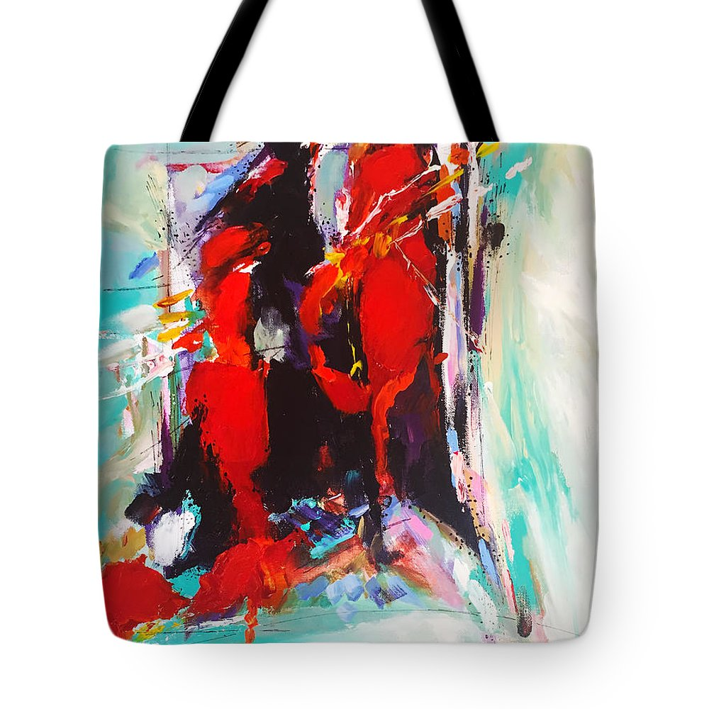 Love Tote Bag featuring the painting Give Me Something I Can Show My Heart by Charles Wallis