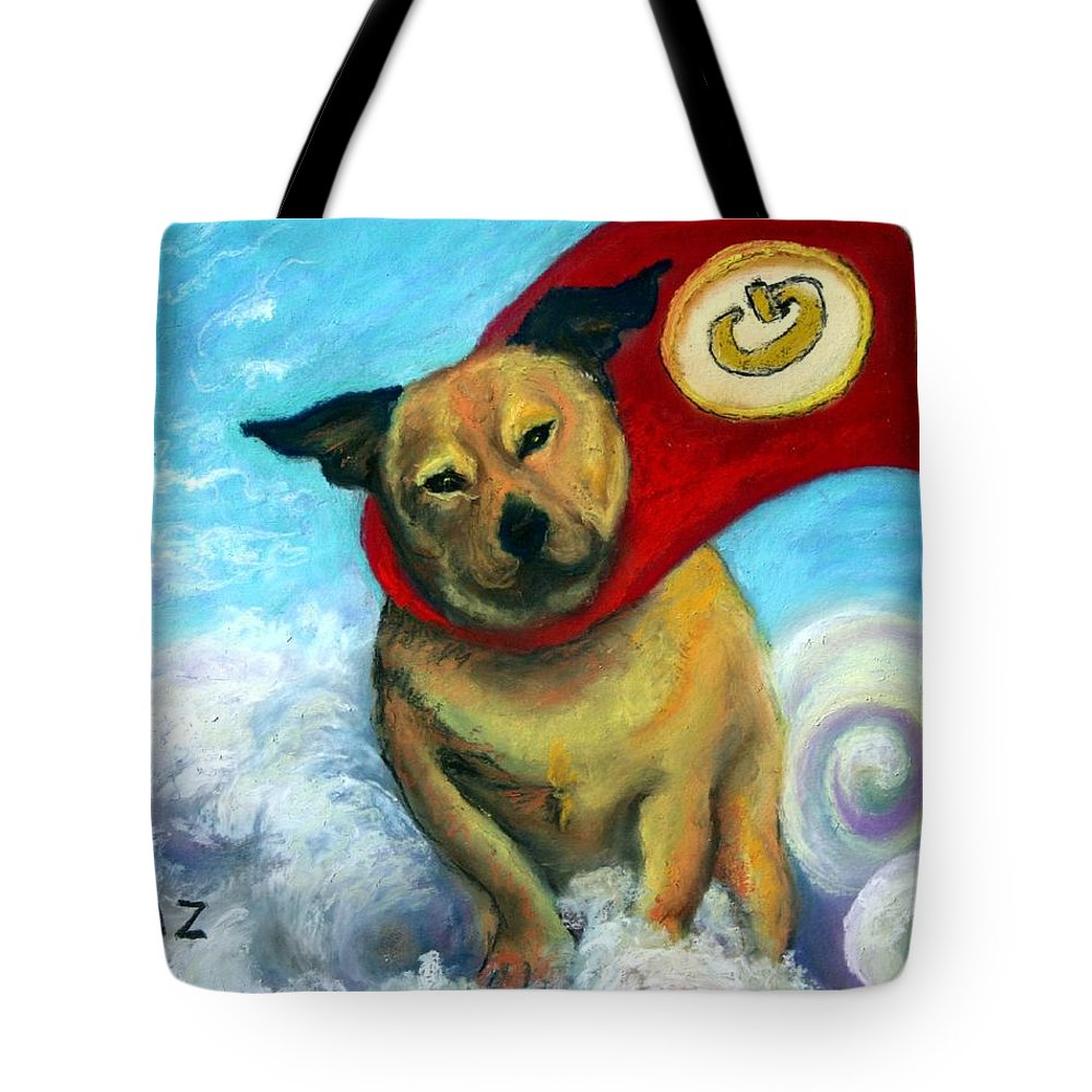 Dog Tote Bag featuring the painting Gizmo The Great by Minaz Jantz