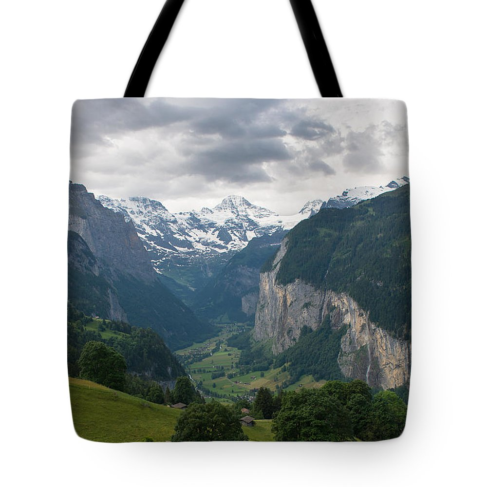 Lauterbrunnen Tote Bag featuring the photograph Glacial Valley by Scott Hafer