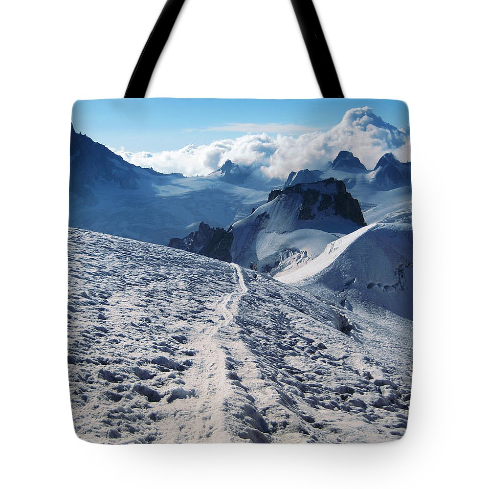 Mountains Tote Bag featuring the photograph Glacier Blanche by Elizabetha Fox