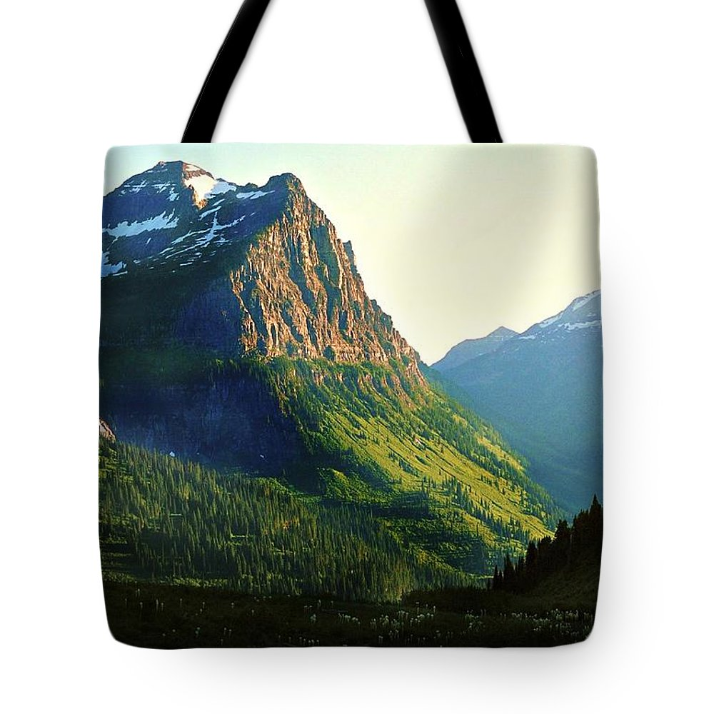 Glacier National Park Tote Bag featuring the photograph Glacier National Park 2 by Deahn   Benware