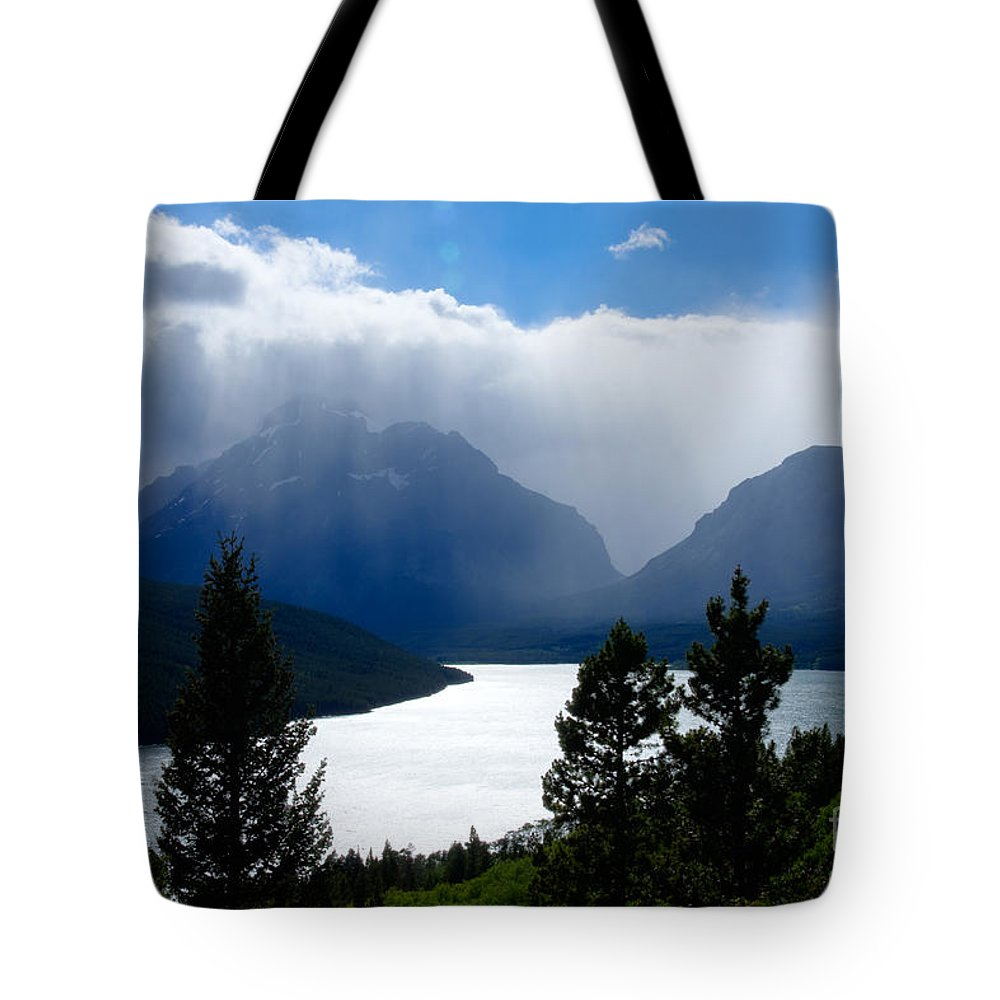 Big Sky Country Tote Bag featuring the photograph Glacier Showers by Idaho Scenic Images Linda Lantzy