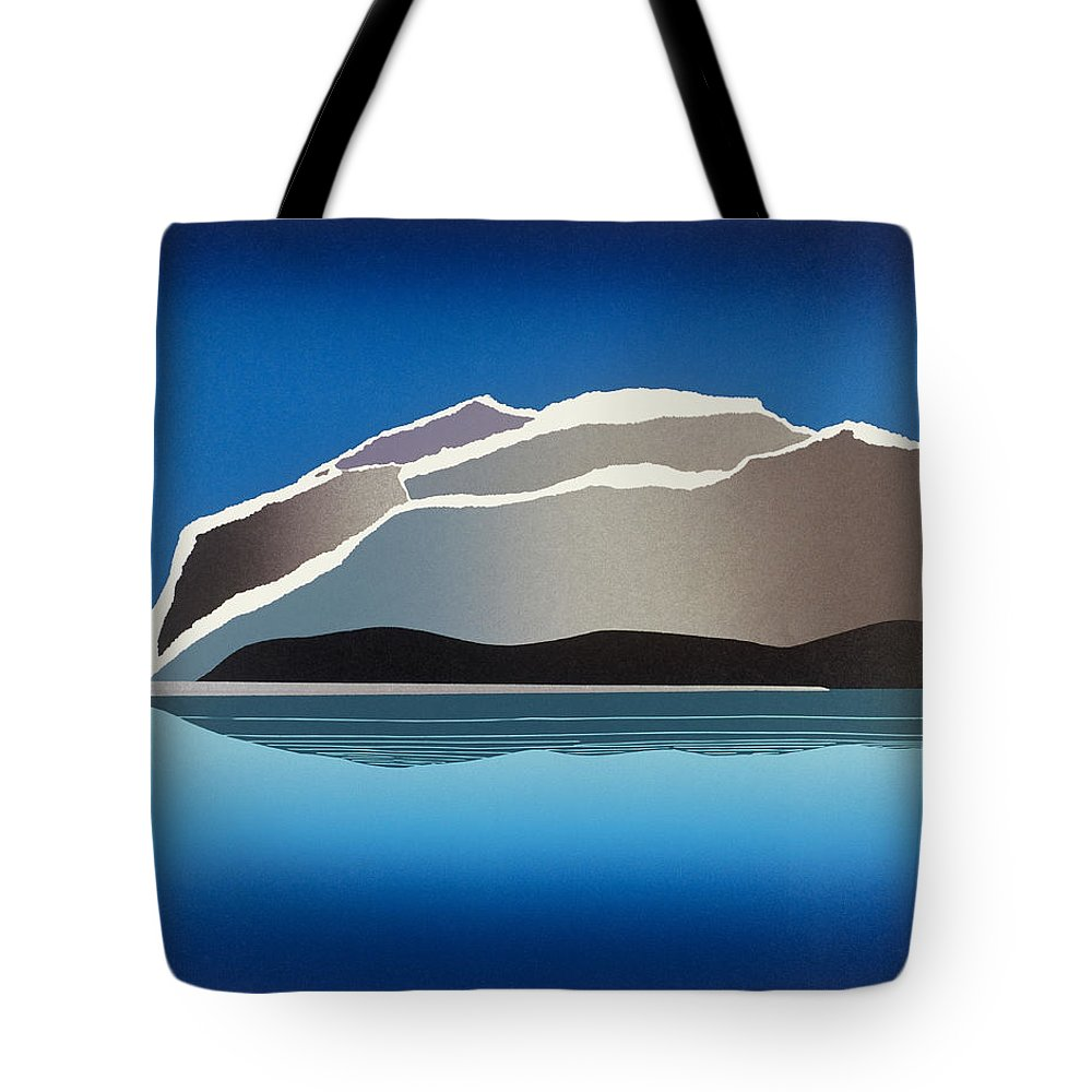 Landscape Tote Bag featuring the mixed media Glaciers by Jarle Rosseland