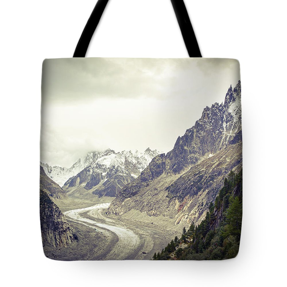 Glacier Tote Bag featuring the photograph Glacierway by Christina Zizzo