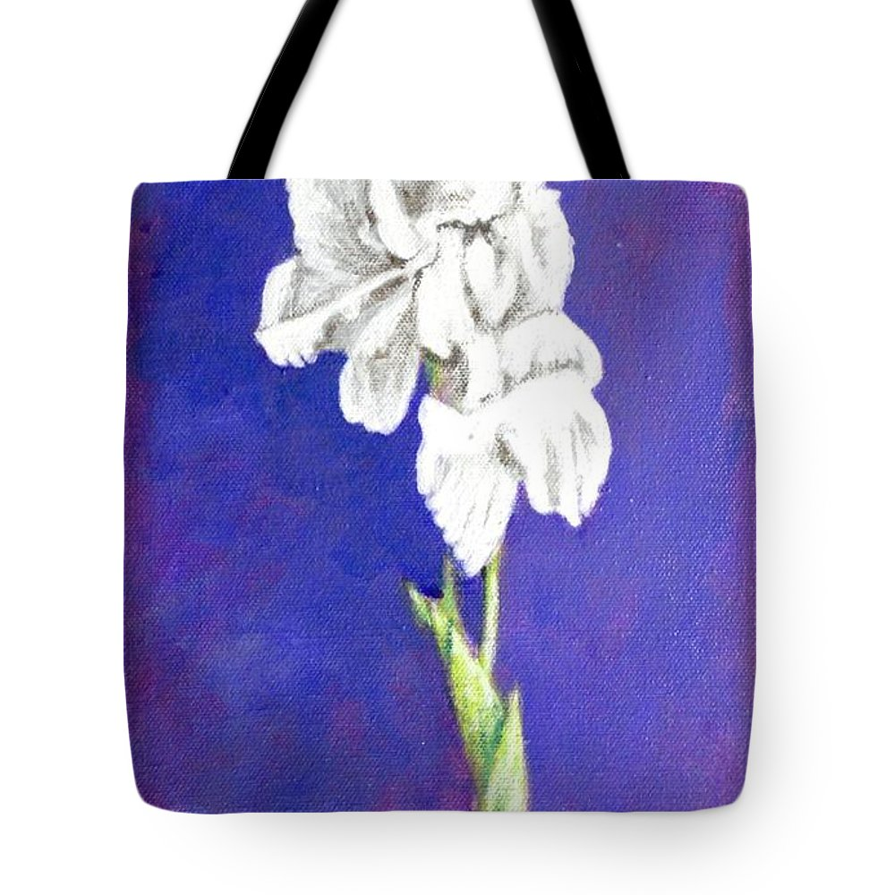 Tote Bag featuring the painting Gladiolus 2 by Usha Shantharam