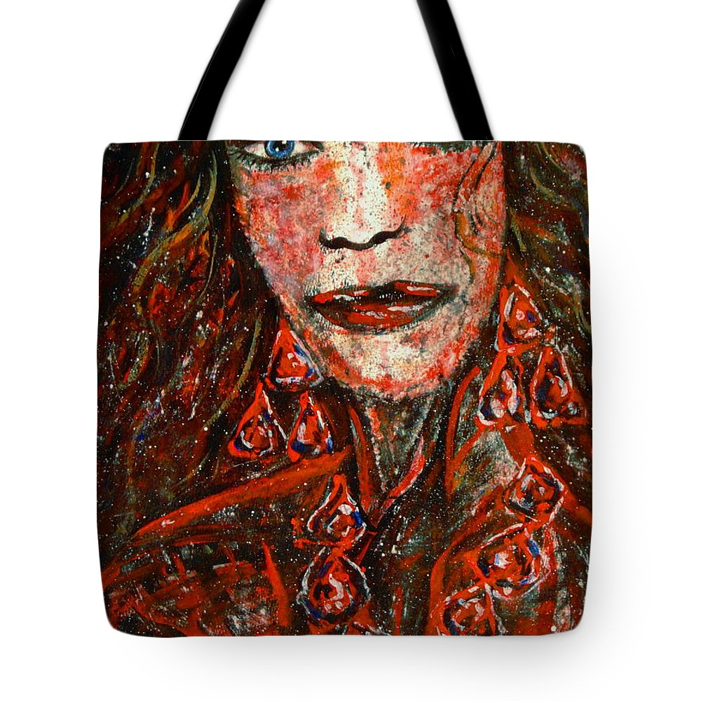 Woman Framed Prints Tote Bag featuring the painting Glamorous by Natalie Holland
