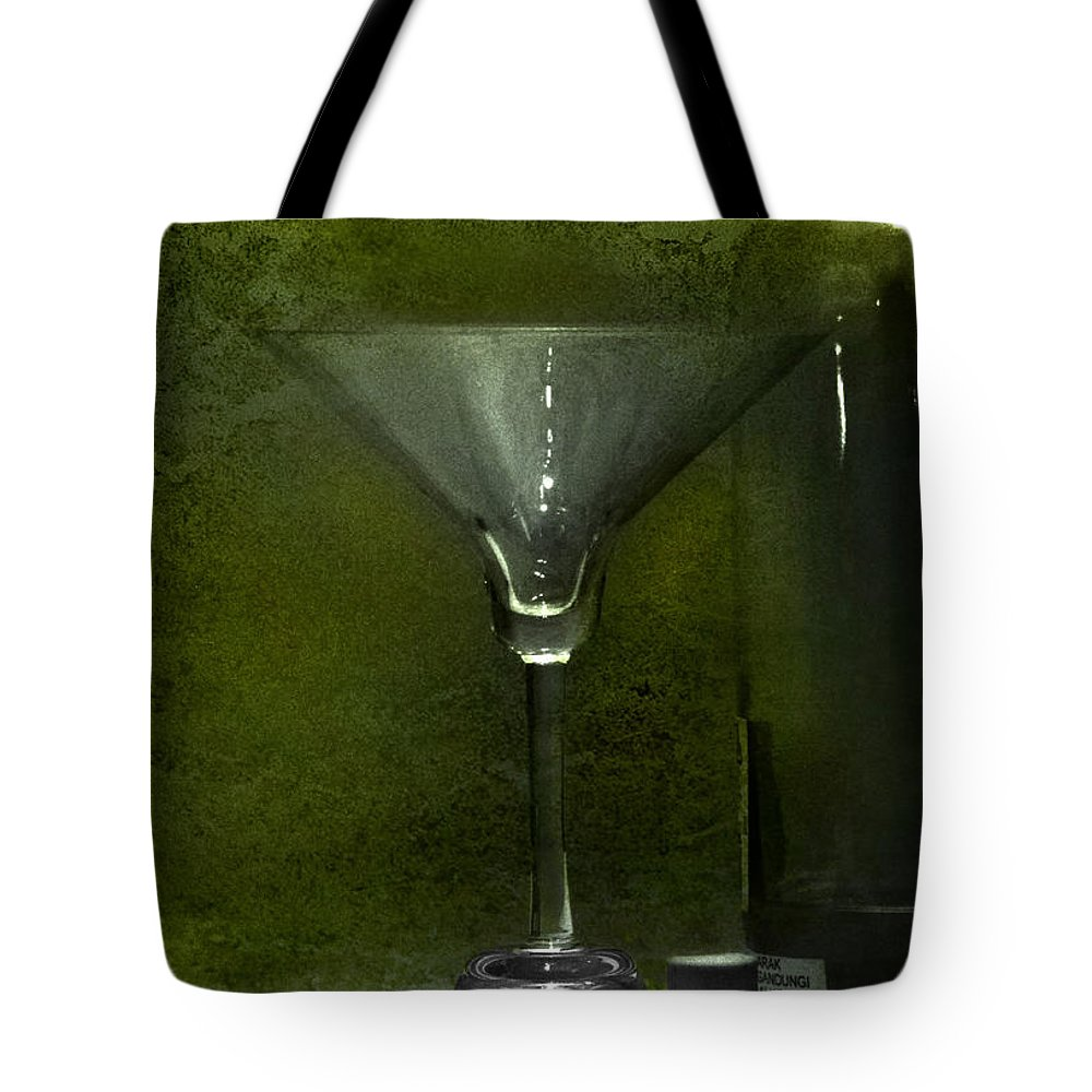 Glass Tote Bag featuring the photograph Glass And Bottle by Charuhas Images