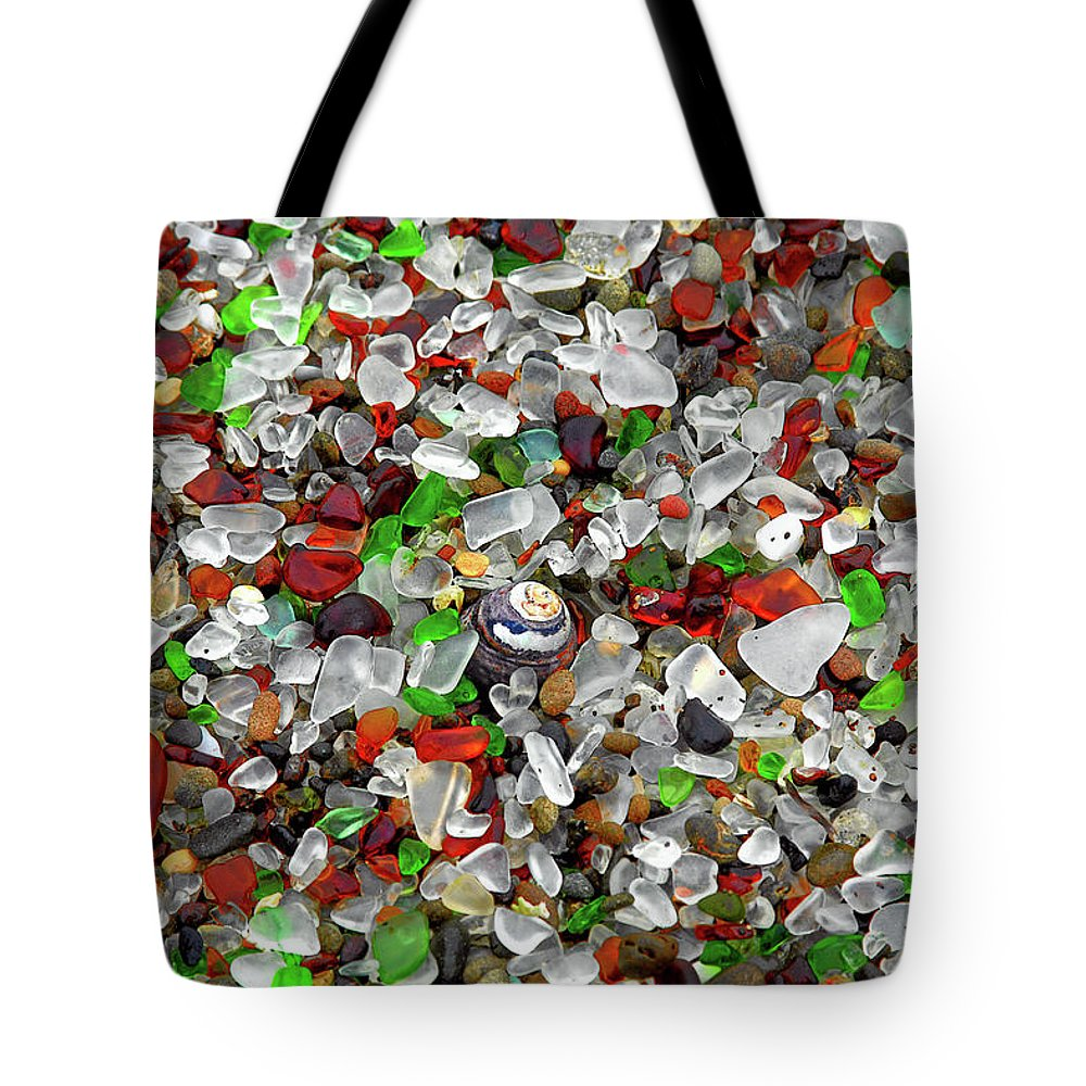 Natural Tote Bag featuring the photograph Glass Beach Fort Bragg Mendocino Coast by Christine Till