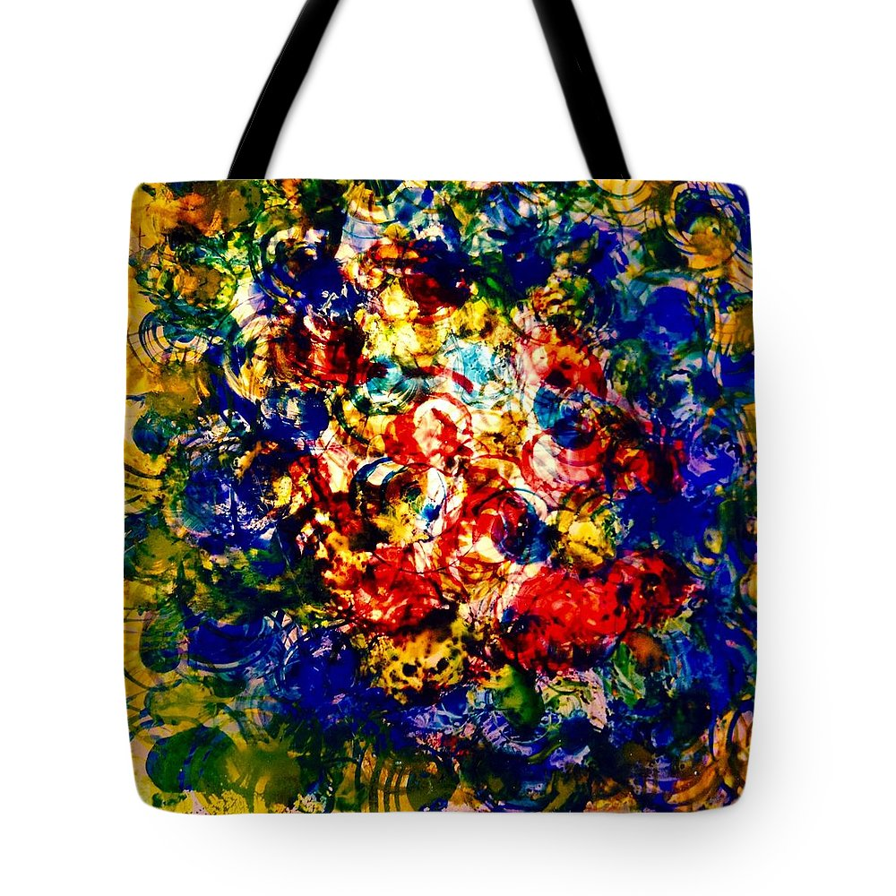 Abstract Tote Bag featuring the painting Glass Block 3 by Gloria Houlne