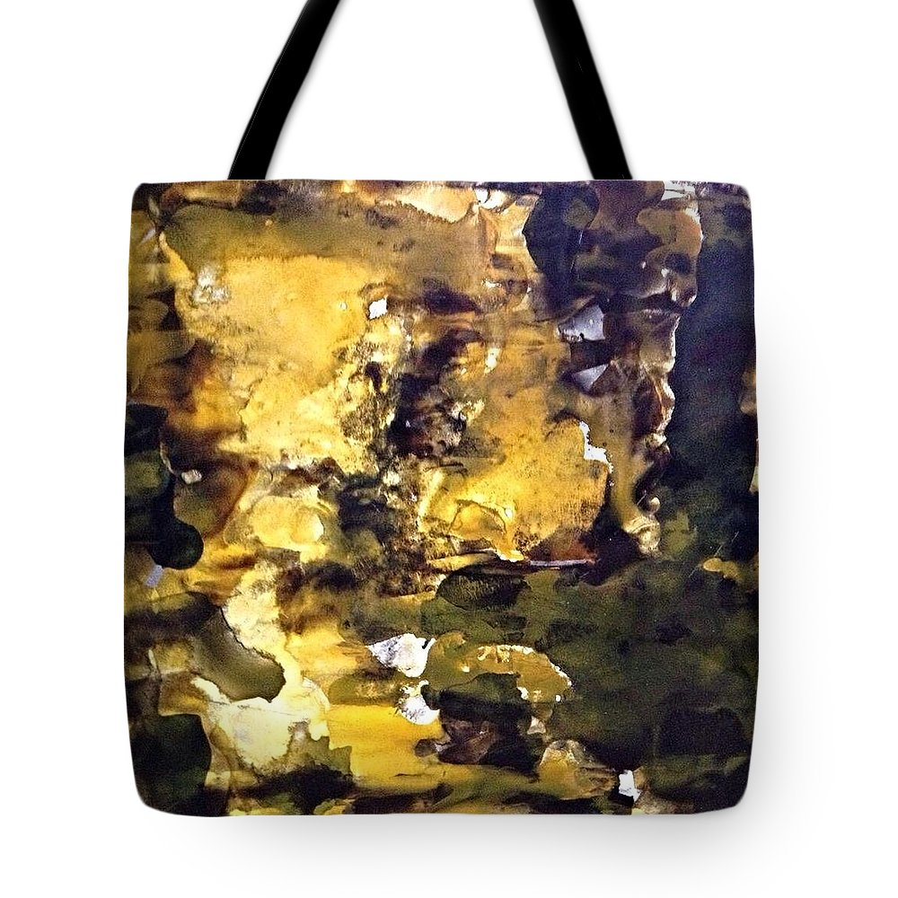 Abstract Tote Bag featuring the painting Glass Block 4 by Gloria Houlne