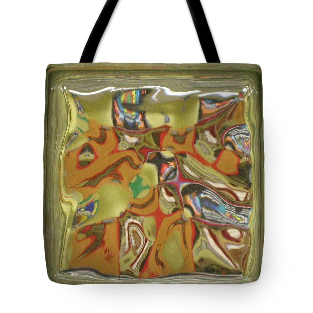 Glass Tote Bag featuring the photograph Glass Block by Denise Keegan Frawley