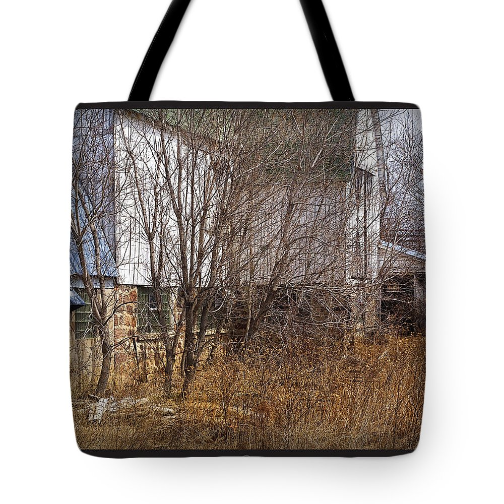 Barn Tote Bag featuring the photograph Glass Block by Tim Nyberg
