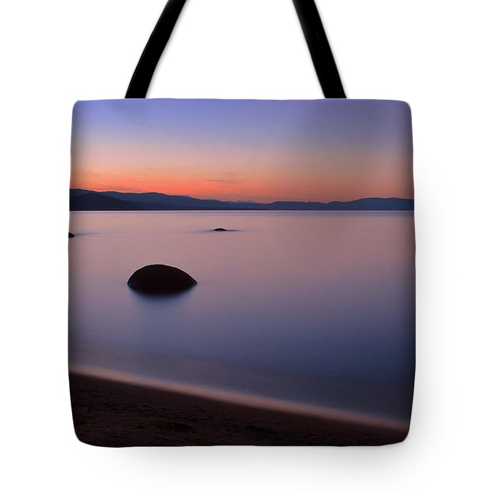 Water Tote Bag featuring the photograph Glass Lake by Derek Palmer
