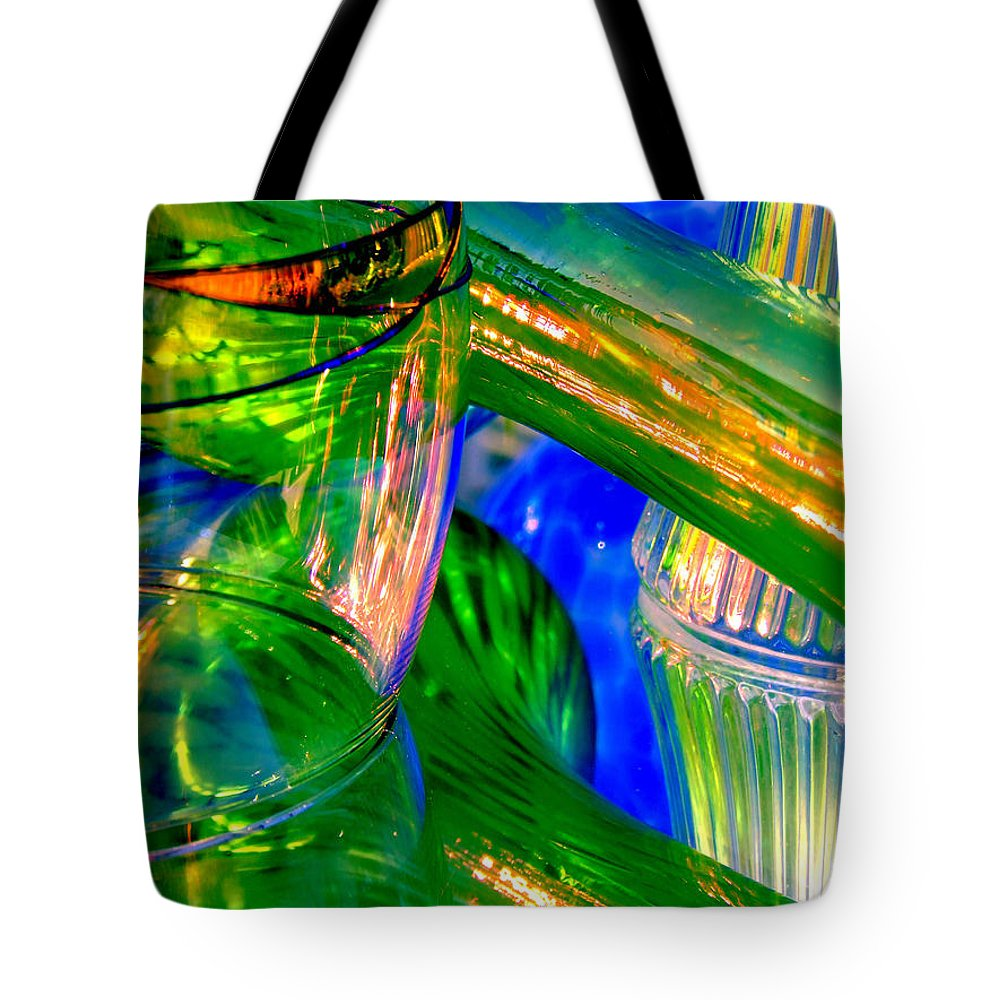 Glass Tote Bag featuring the photograph Glass Menagerie by Donna Blackhall