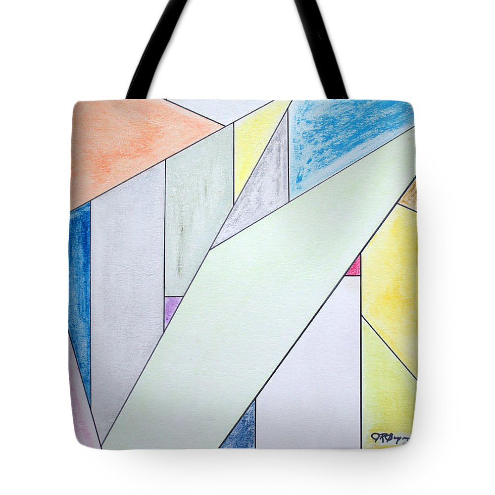 Buildings Tote Bag featuring the mixed media Glass-scrapers by J R Seymour