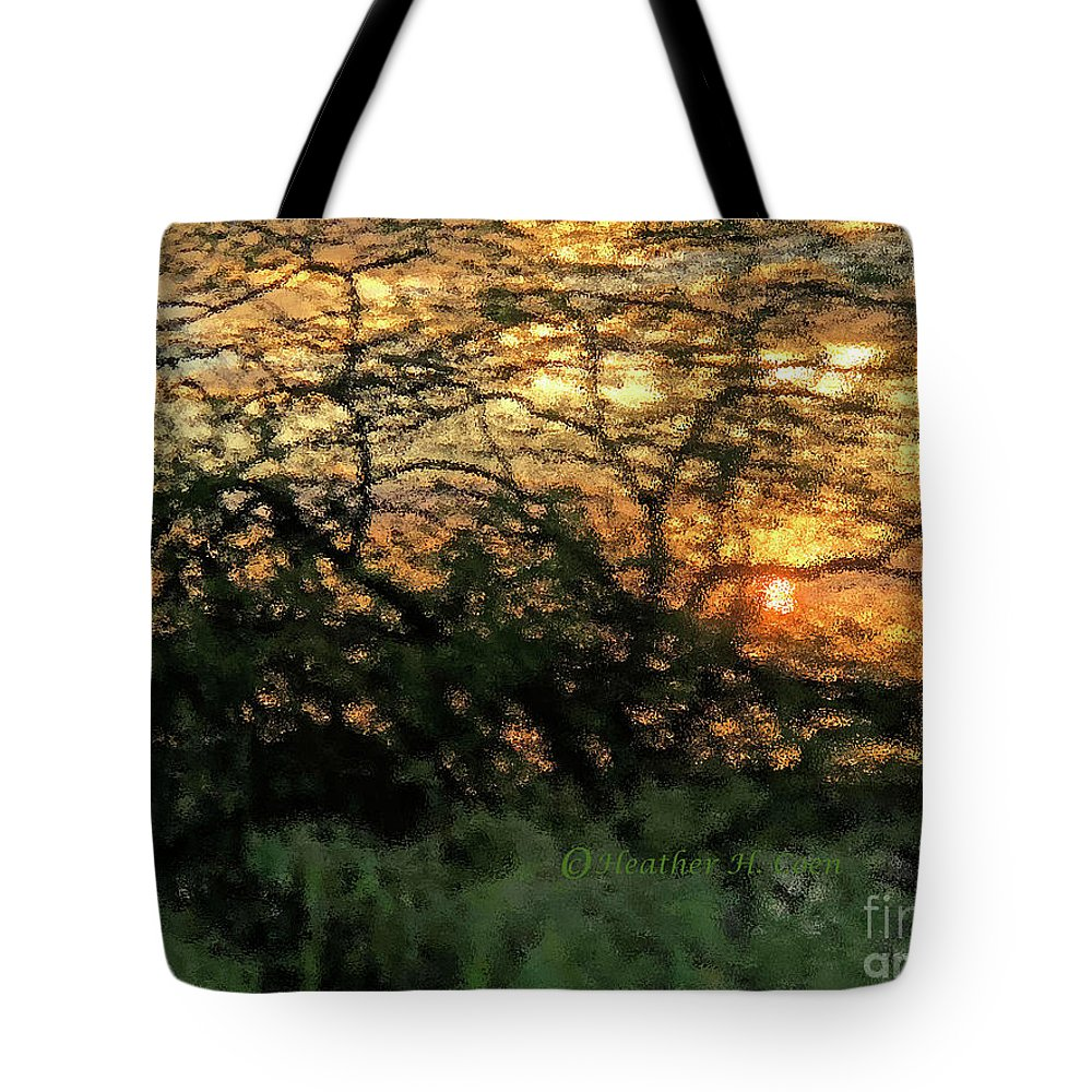 Sunset Tote Bag featuring the photograph Glass Sunset Hawaii by Heather Coen