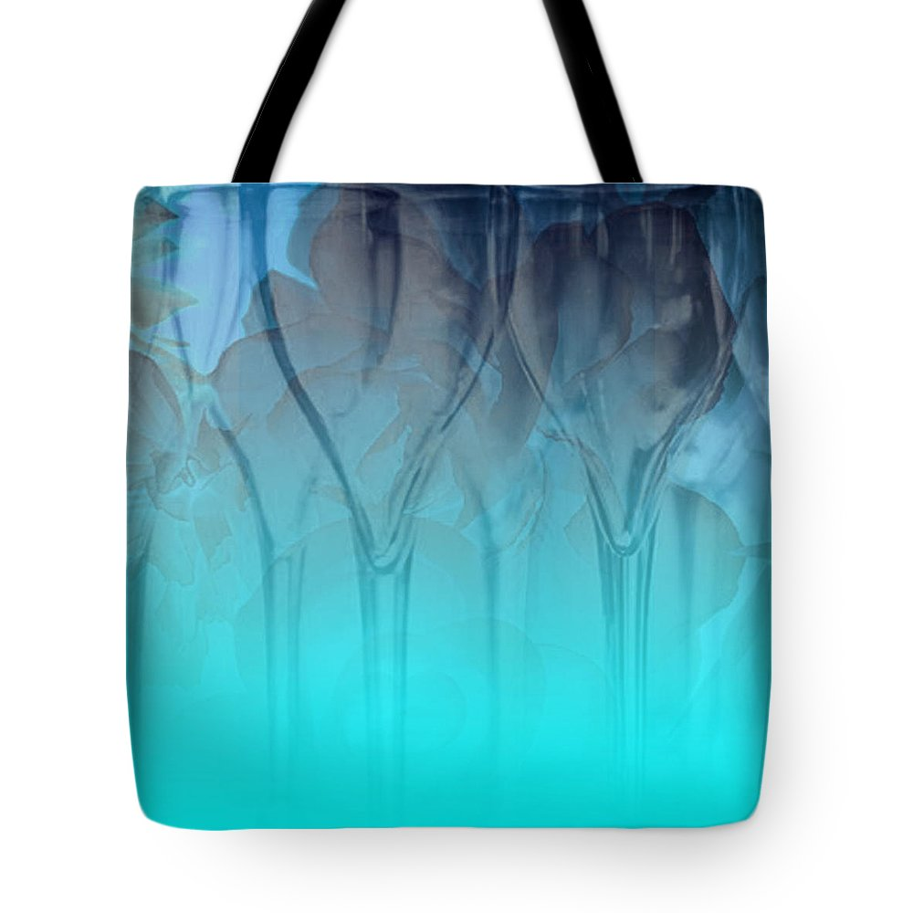 Glasses Tote Bag featuring the digital art Glasses Floating by Allison Ashton