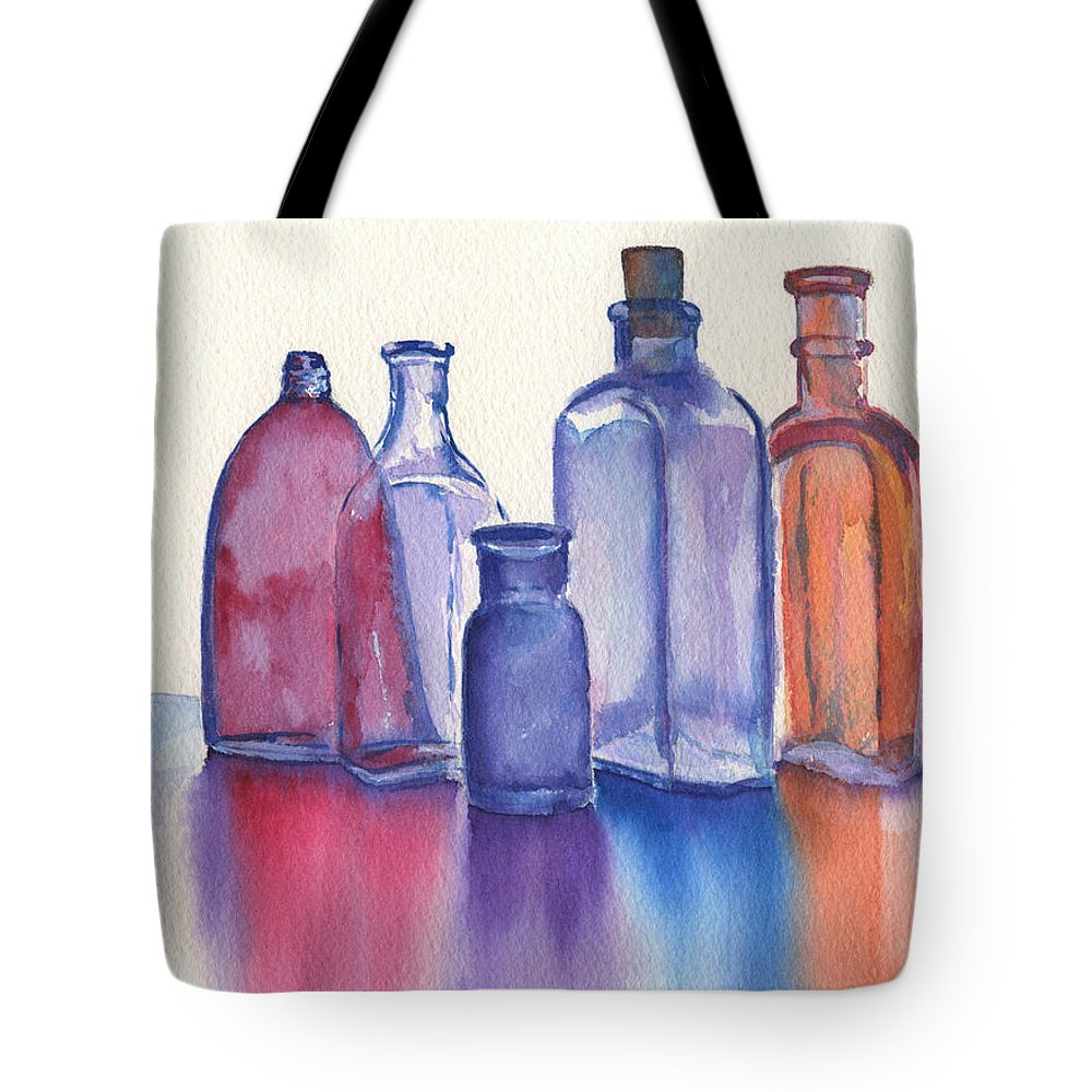 Reflections Tote Bag featuring the painting Glassy Reflections by Marsha Elliott