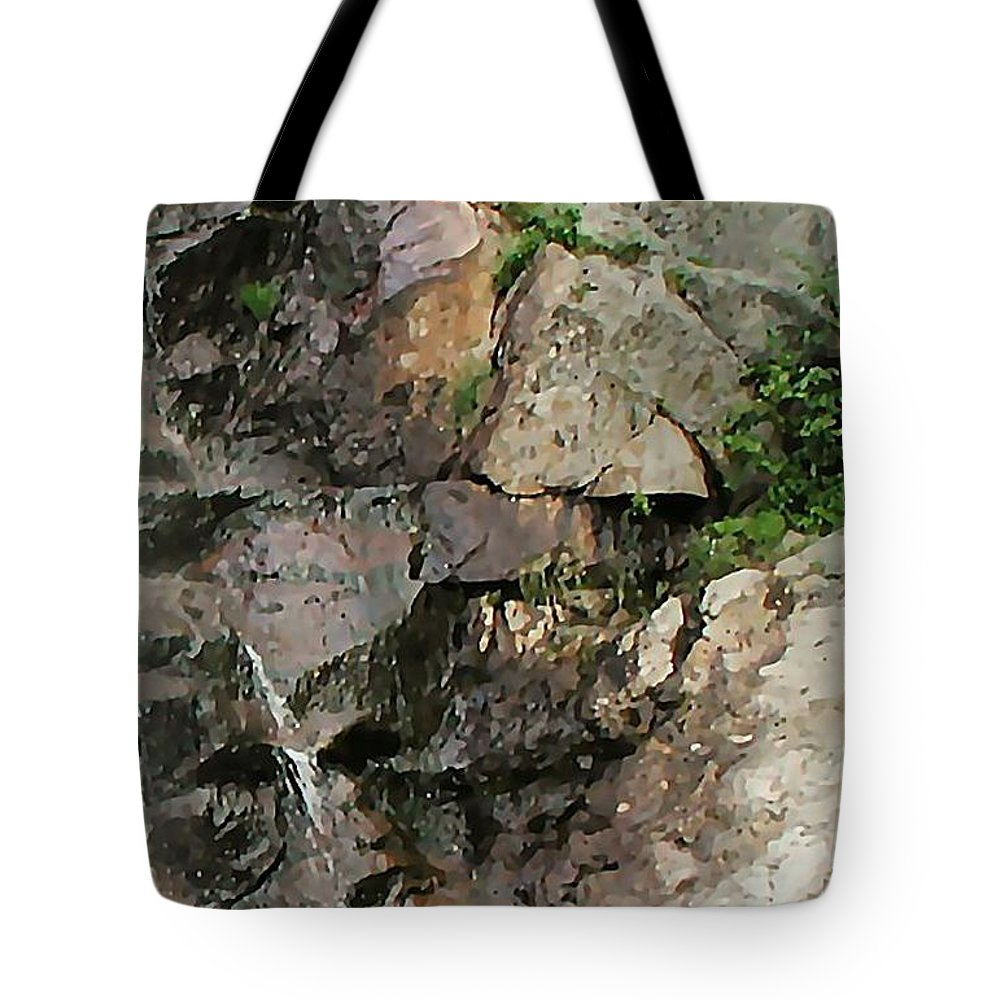 Waterfall Tote Bag featuring the photograph Glen Falls Abstract by Dave Martsolf