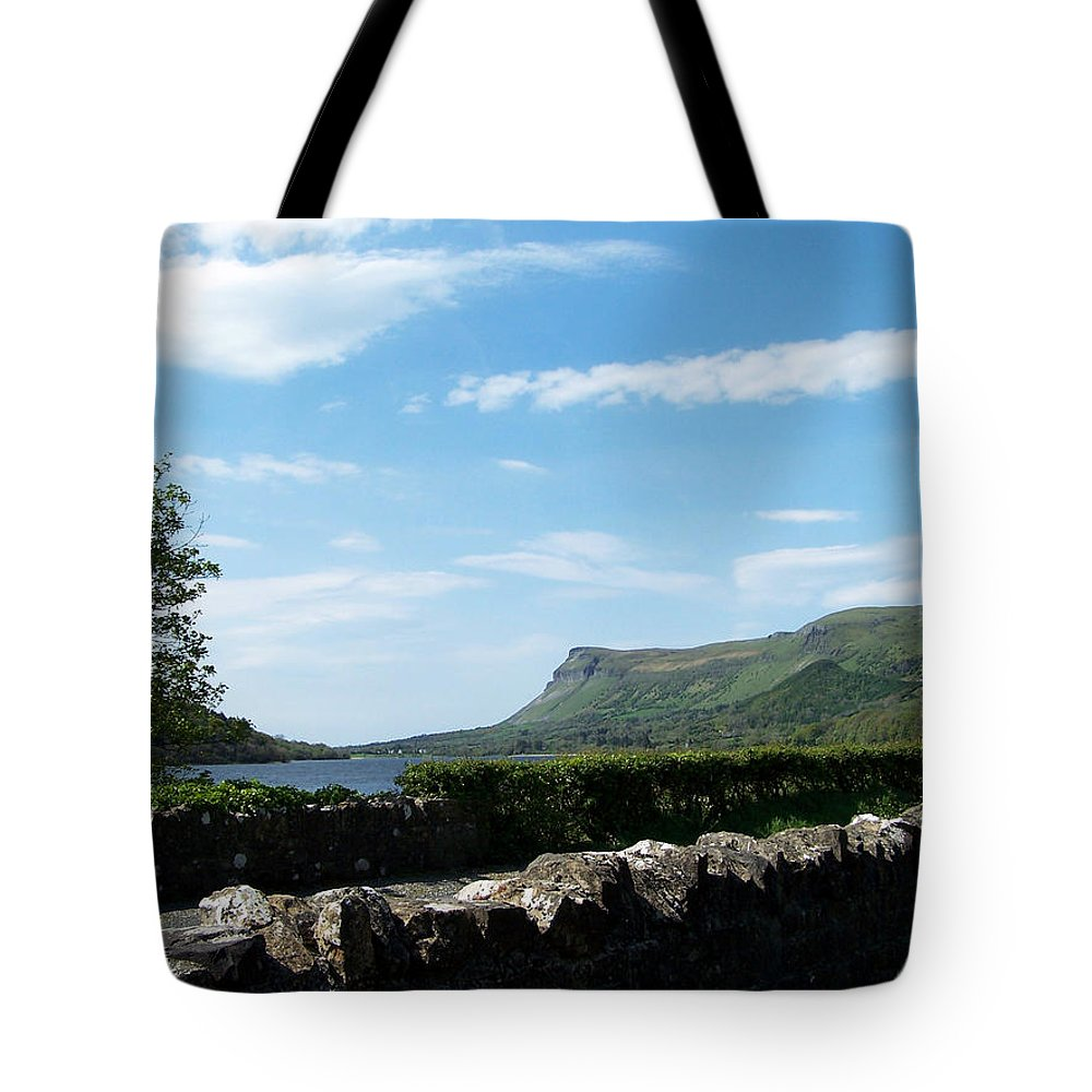 Irish Tote Bag featuring the photograph Glencar Lake With View Of Benbulben Ireland by Teresa Mucha