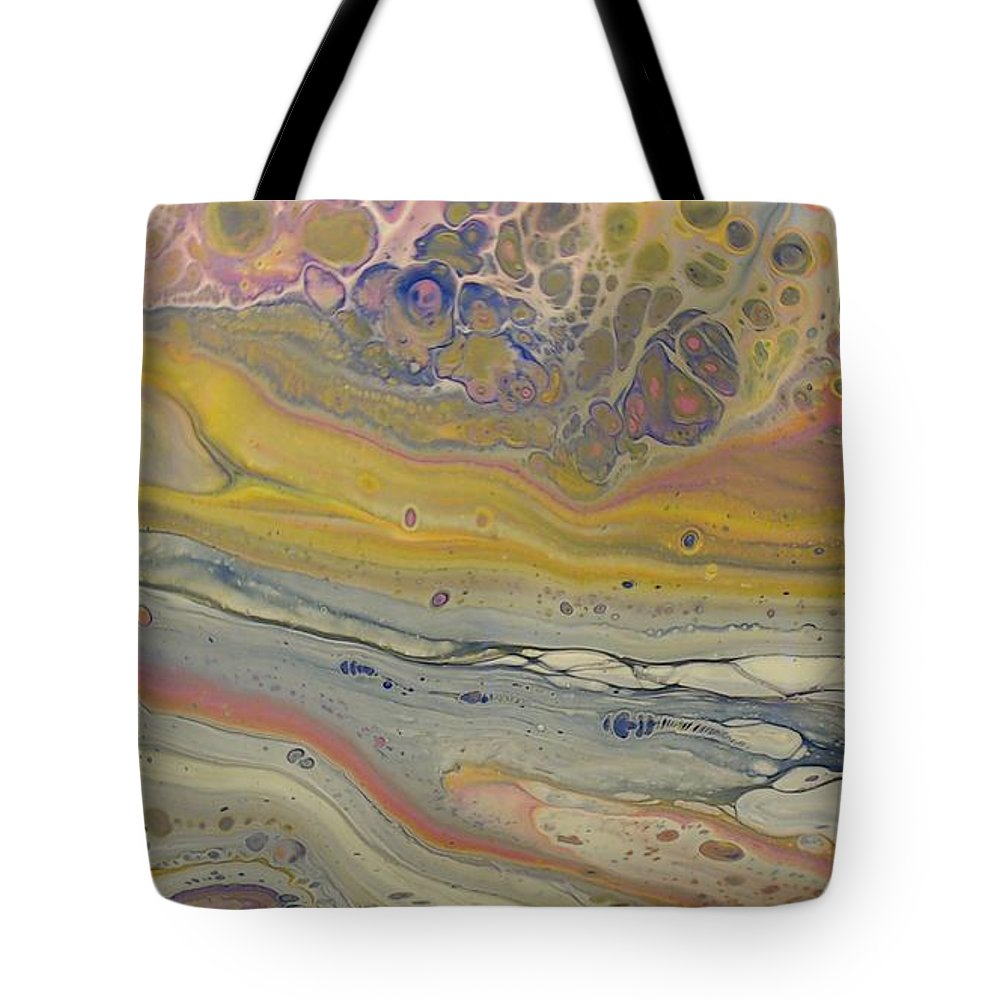 Abstract Tote Bag featuring the painting Glide Across The Galaxy 2 by C Maria Wall
