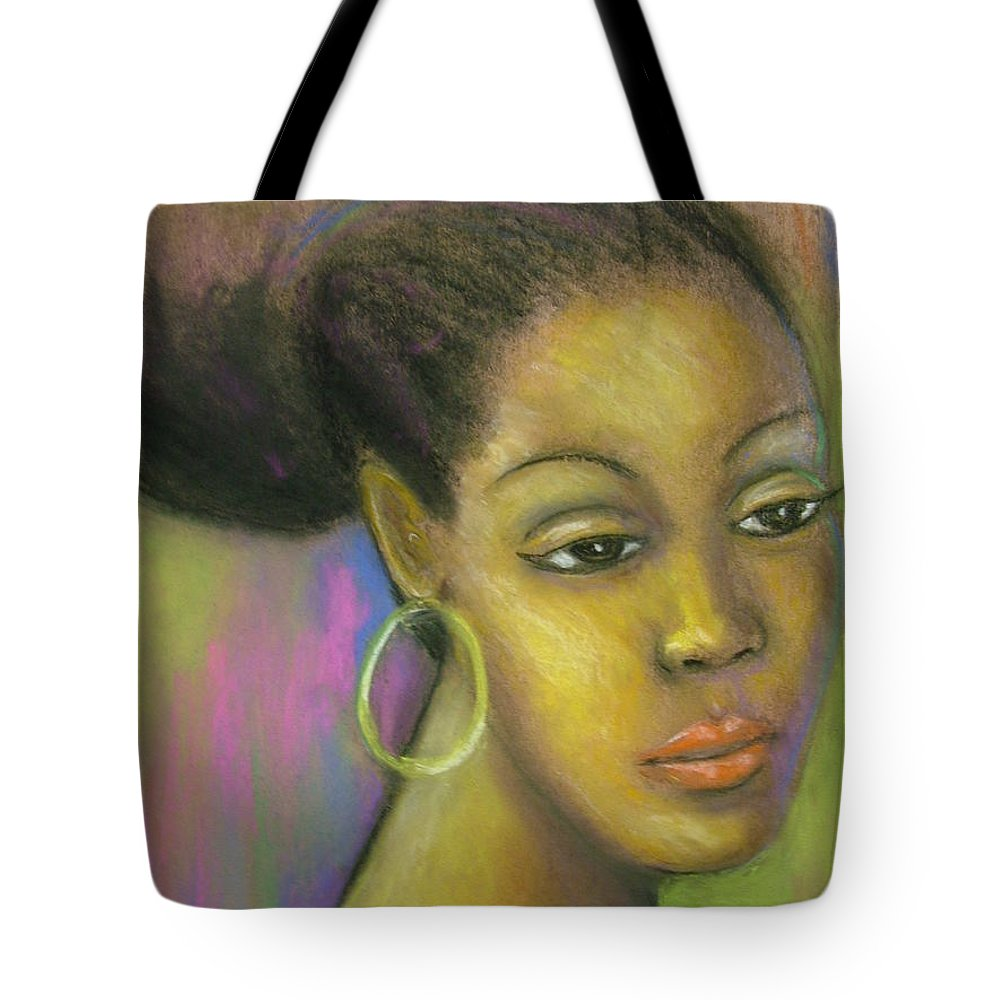 Drawing Tote Bag featuring the drawing Glisten by Jan Gilmore
