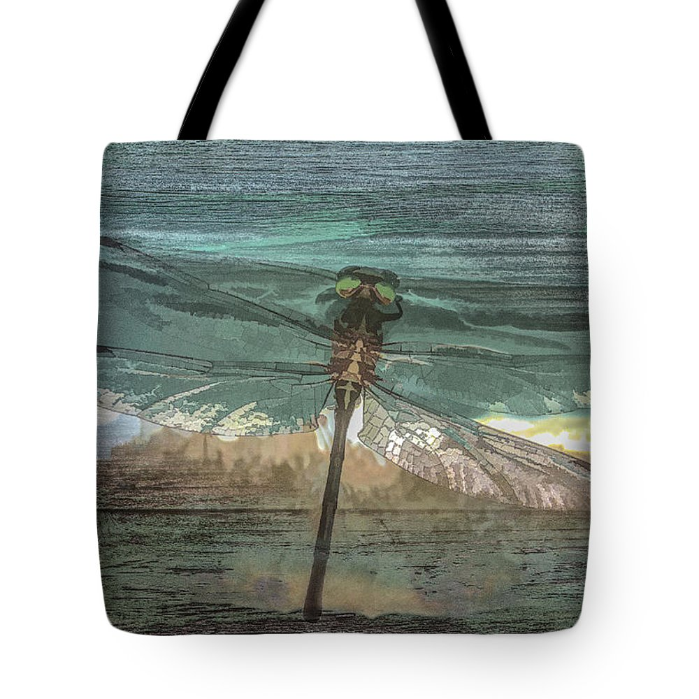 Dragon Tote Bag featuring the photograph Glistening On Wood by Debra and Dave Vanderlaan