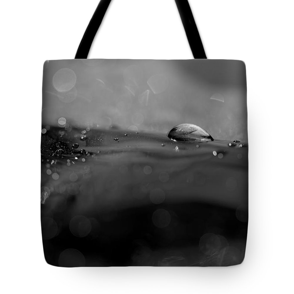 Glittering Black And White Tote Bag featuring the photograph Glittering Black And White by Tracy Winter