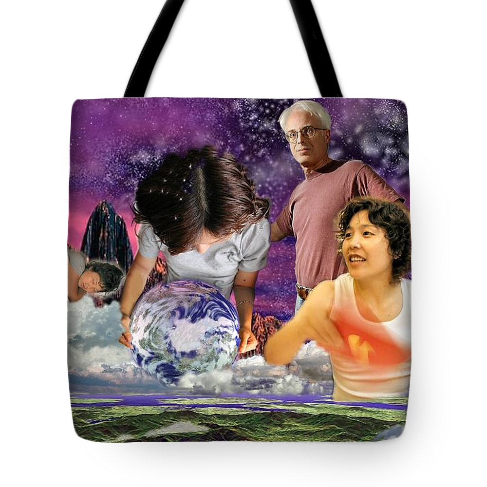 Landscape Tote Bag featuring the digital art Global Dreaming by Dave Martsolf