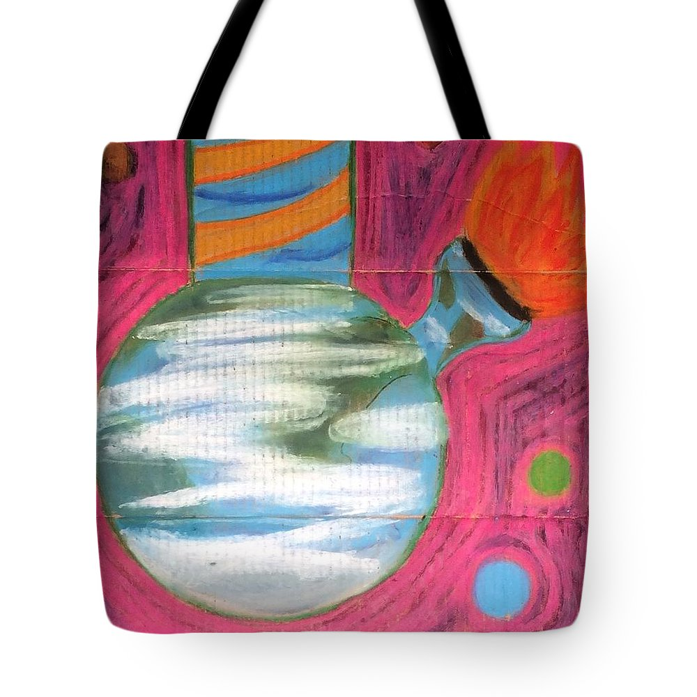 World Tote Bag featuring the pastel Global Warming by Peter Petunia