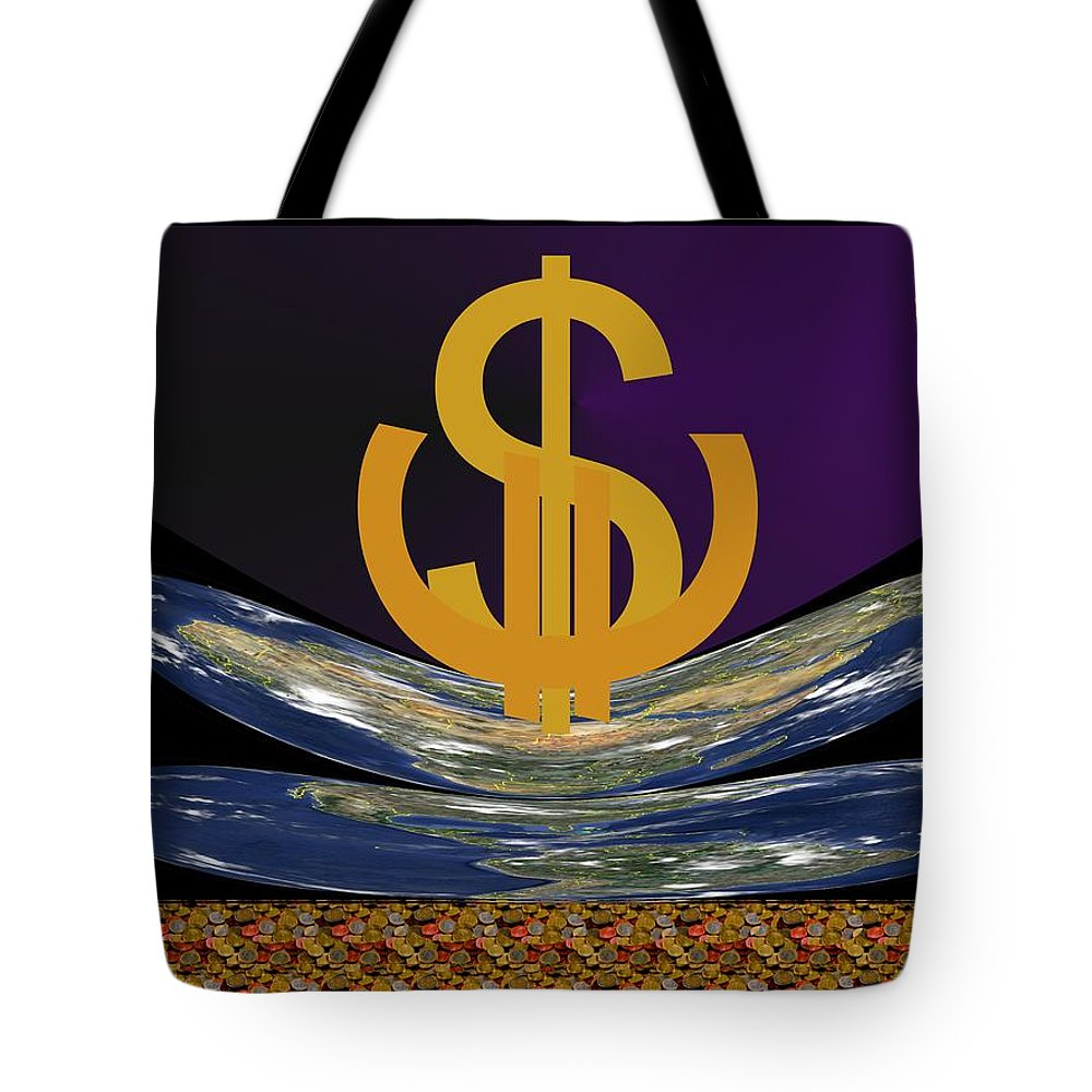 Global Tote Bag featuring the digital art Globalworld by Helmut Rottler