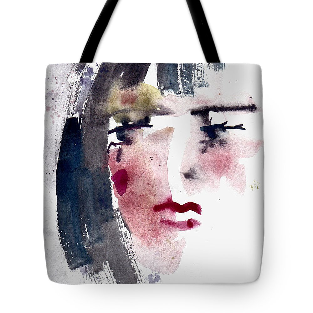 Woman Tote Bag featuring the painting Gloomy Woman by Faruk Koksal