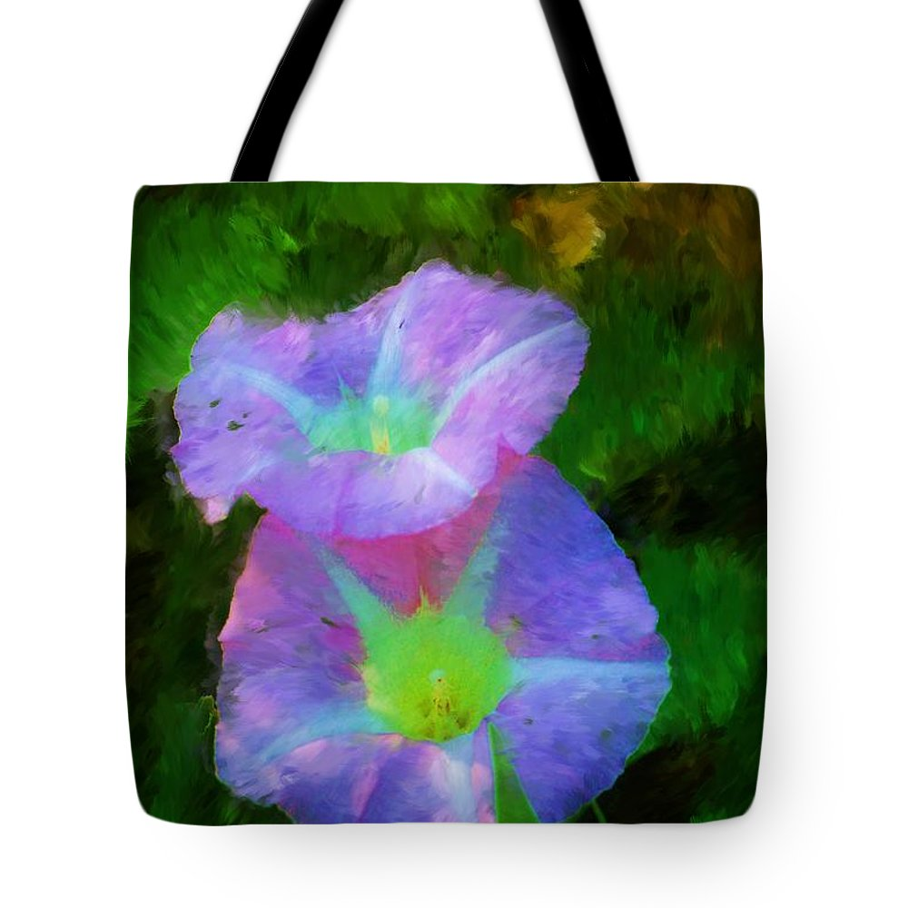 Floral Tote Bag featuring the painting Gloria In The Shade by David Lane