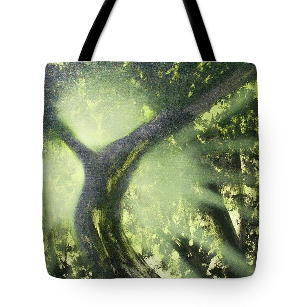 Landscape Tote Bag featuring the painting Glorious Day by Ervin Sloan