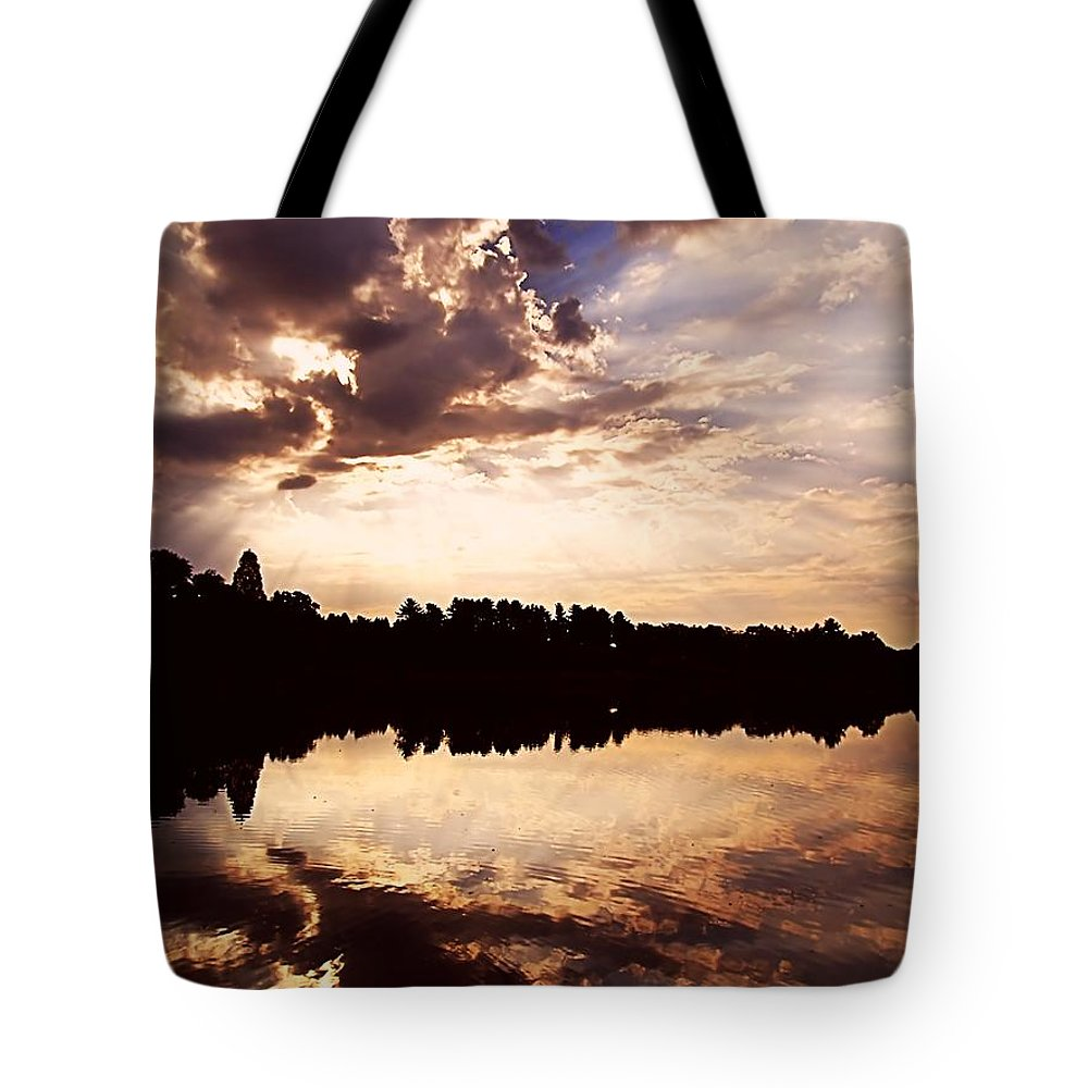 Sunrise Tote Bag featuring the photograph Glorious Moments by Gaby Swanson