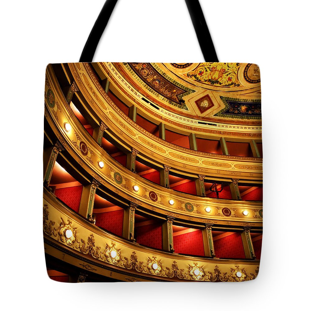 Theatre Tote Bag featuring the photograph Glorious Old Theatre by Marilyn Hunt