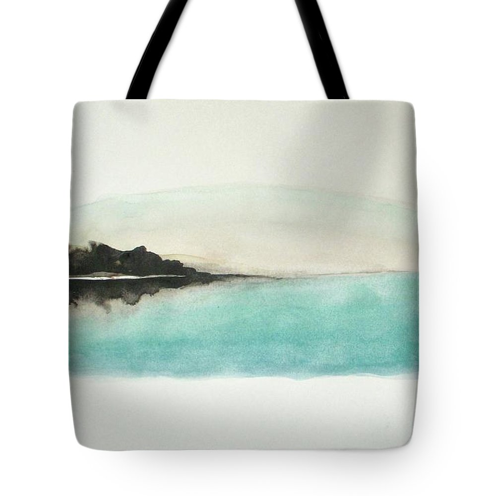 Abstract Tote Bag featuring the painting Glory Lake by Vesna Antic