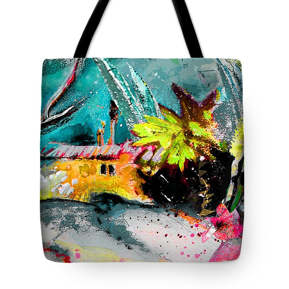Pastel Painting Tote Bag featuring the painting Glory Of Nature by Miki De Goodaboom