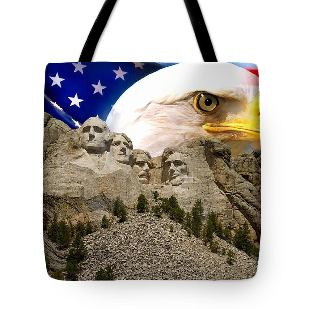Nature Tote Bag featuring the photograph Glory To America by Bruce Nikle